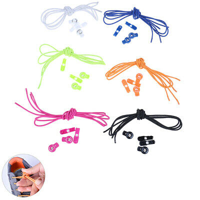 AONIJIE Elastic Lock Laces Reflective No Tie Quicklaces for Outdoor Sport Shoes.