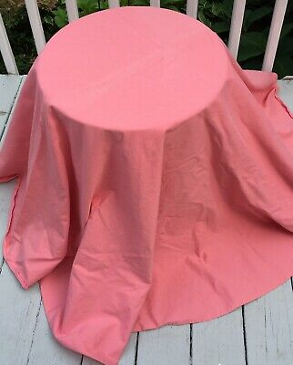 """72"""" Round Coral Heavy Cotton Table Skirt"""