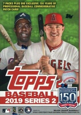 2019 Topps Baseball Series 2 Blaster Box of Packs Exclusive PATCH Possible AUTOS