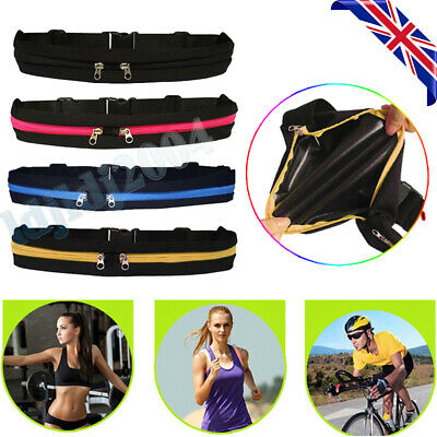 Dual Pocket Runner Waist Belt Bag Pack Pouch Bum Running Sports Jogging Gym Yoga
