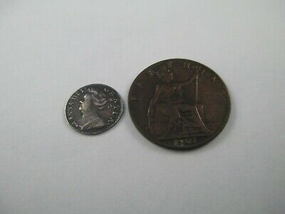 1709 Queen Anne Silver Maundy Penny