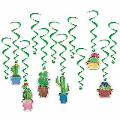 Western Cowboy Boot and Cactus Hanging Whirls 3 Pack Party Decoration