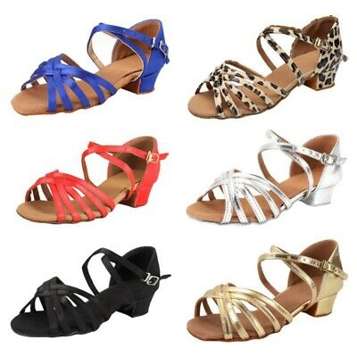 Women's Strappy Latin Ballroom Party Tango Salsa Dance Shoes Heel-Height 3.5CM