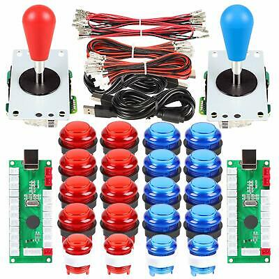 2 Player Arcade Games DIY Kit Parts 2 Ellipse Joystick + 20 LED Arcade Buttons
