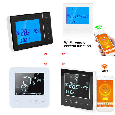 Programmable Smart WiFi Wireless Digital Thermostat LCD Touch Screen App Control