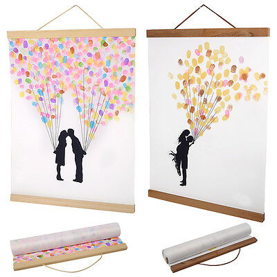 Modern Magnet Picture Hanger Wooden Frame Scroll Photo Poster Artwork Hanger DIY