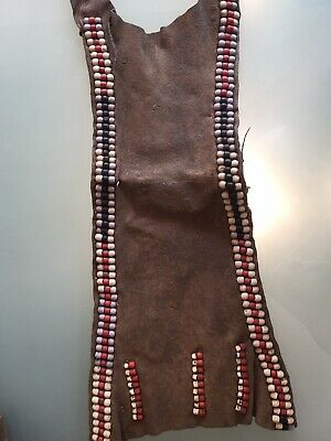 Antique Leather Part Of Traditional Dress Turkana Women Beaded Work Loincloth