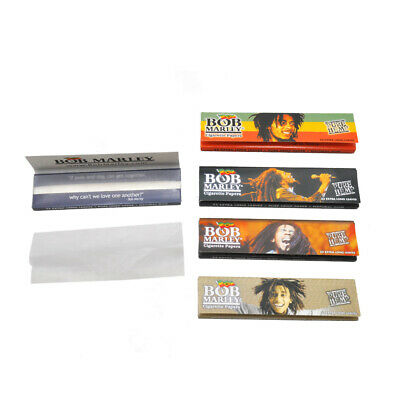 6 Packs BOB 110MM 32leaves Natural Pure White Cigarette Smoking Papers