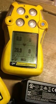 BW Gas Alert tester Quattro 4 gas detector H2S/O2/CO/LEL (CH4) rechargeable Unit
