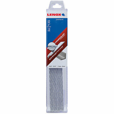 Lenox 18TPI Medium Metal Cutting Reciprocating Saw Blades 203mm Pack of 25