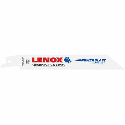 Lenox 10TPI Multi Material Reciprocating Saw Blades 152mm Pack of 25