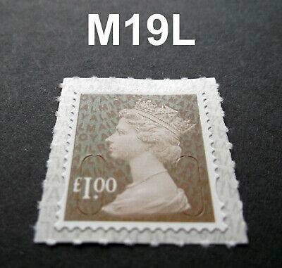 NEW JUNE 2019 £1.00 M19L Code Machin SINGLE MINT STAMP from Counter Sheet