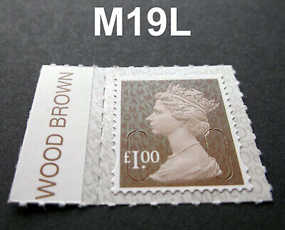 NEW JUNE 2019 £1.00 M19L Machin SINGLE WITH COLOUR TAB from Counter Sheet