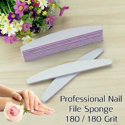 Professional Quality Nail Files 180/180 Grit Manicure Acrylic Gel Nail Care File