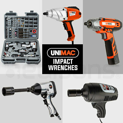 """UNIMAC Impact Driver 1/2"""" Power Tool Wrench Kit Choose Air Electric Cordless 12v"""
