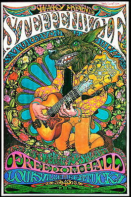 """""""STEPPENWOLF"""" ... 1960's Retro Concert Promo Posters... A1,A2,A3,A4 Sizes"""