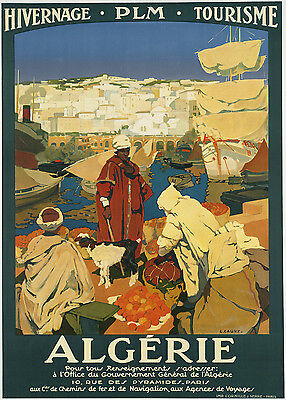 NORTH AFRICA...Vintage Art Deco Travel Poster A1A2A3A4Sizes MARSEILLE PLM..