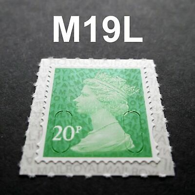 2019 20p M19L Code Machin SINGLE MINT STAMP from Counter Sheet