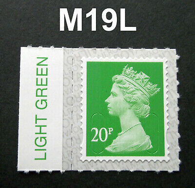 2019 20p M19L Machin SINGLE WITH COLOUR TAB from Counter Sheet