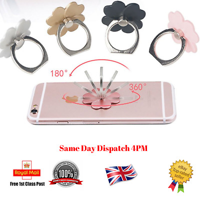 Finger Grip Ring Stand Phone Holder For iPhone Phone Tablet Rotating 360° UK