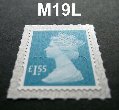 2019 £1.55 M19L Code Machin SINGLE MINT STAMP from Counter Sheet