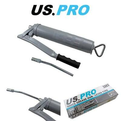 US PRO Tools 500cc Grease Gun Manual 8000psi Pumping Action & Non Return Valve