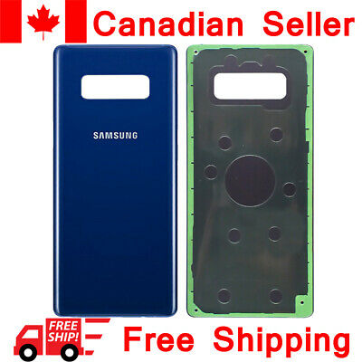 Samsung Galaxy Note 8 Back Glass Battery Door Cover Replacement N950W Blue