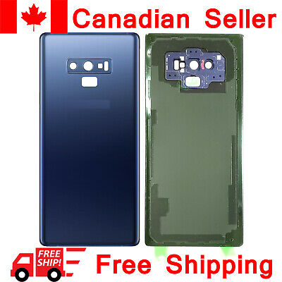 Samsung Galaxy Note 9 Back Glass Battery Door Cover Replacement N960W Blue