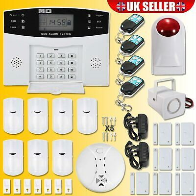 Wireless Gsm Autodial Sms Home House Office Security Burglar Intruder Alarm