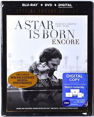 A STAR IS BORN Special Encore Ed. (Blu-ray + DVD + Digital) >NEW< See Notes