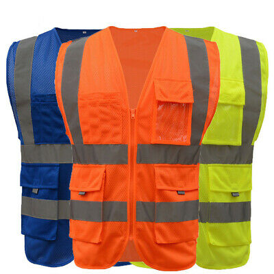 High Visibility Safety Security Reflective Vest Construction Work Waistcoat