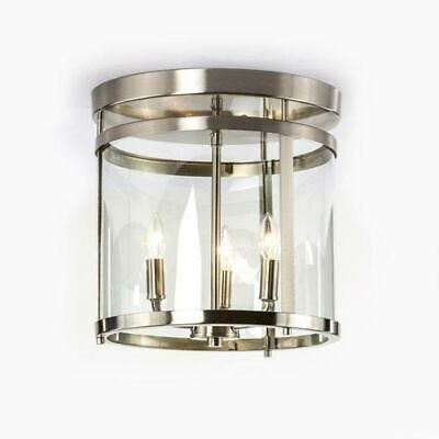 251 First Selby Brushed Nickel Three-Light Semi Flush Mount - 860999-1754721-251