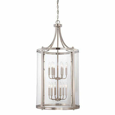 251 First Selby Brushed Nickel and Pewter 12-Light Pendant - 860999-2088095-251
