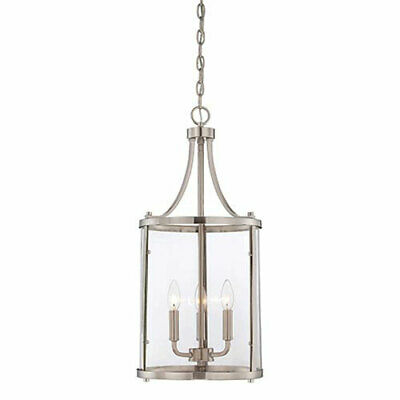 251 First Selby Brushed Nickel and Pewter Three-Light Pendant