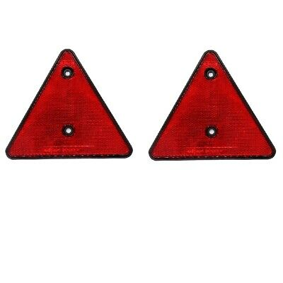 2 x Safety Triangle Reflectors with Screw holes for Mounting on Trailer Rear