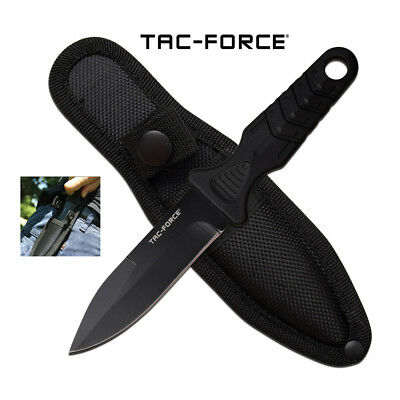 """Tac-Force BOOT KNIFE Dagger w/ Clip-On Sheath - Fixed Blade 7"""" Overall Survival"""