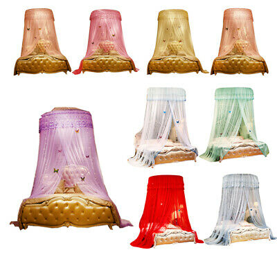 Bedroom Bed Lace Mosquito Netting Mesh Canopy Princess Round Dome Bedding Net
