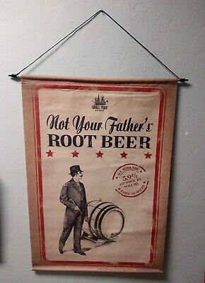 NOT YOUR FATHER'S ROOT BEER SMALL TOWN BREWERY 2 feet/ 34 1/2 hinches VINYL SIGN