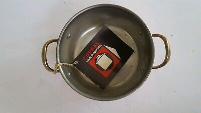 Copral Small Copper Pot Brass Handles Tin Lined Made in Portugal Original Tag