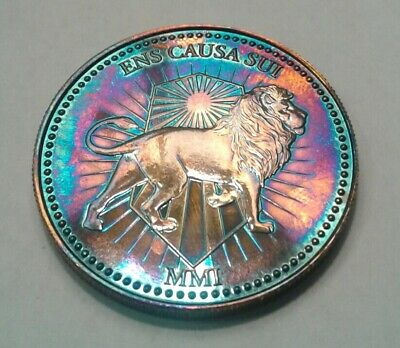 John Wick Continental Coin 1 Troy oz .999 Silver  Round with beautuful toning