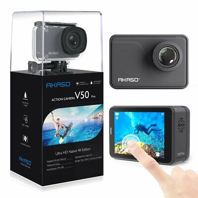 AKASO V50 Pro Native 4K/30fps 20MP WiFi Action Camera with EIS Touch Screen Adju