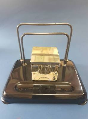 Original Antique Ink well with crystal