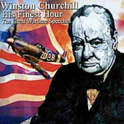 Winston Churchill - His Finest Hour Wartime Speeches - CD - New
