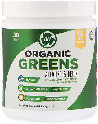BN LABS, Organic Greens, Alkalize and Detox, 7.70 oz (220.35 g)