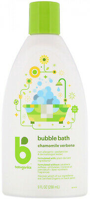 BabyGanics, Bubble Bath, Chamomile Verbena, 9 fl oz (266 ml)