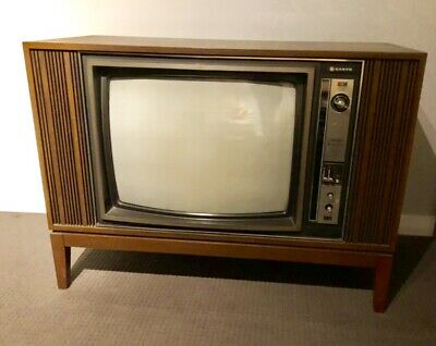 Retro Vintage 1970s Colour Sanyo Television - Collectible TV - Only One Owner!