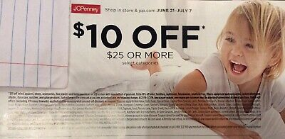 JCPenney Coupon $10 off $25 exp 07/07/2019
