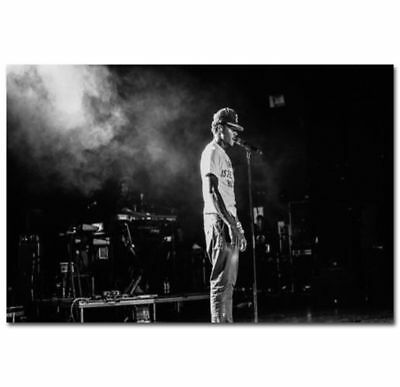 0133D Hot Chance the Rapper Hip Hop Rap Music Star-Print Art Silk Poster