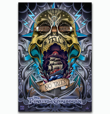 Pirates Of The Caribbean Map movie Fabric Art Silk Poster Custom 12x18in V371