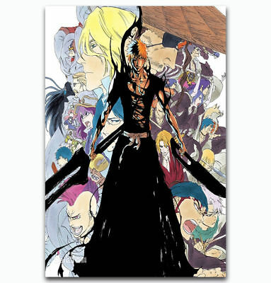 0037D Bleach Dead Rukia Ichigo Fight Japan Anime-Print Art Silk Poster